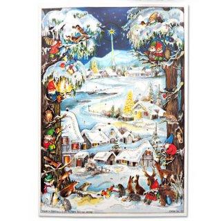 ドイツ クリスマス アドヴェントカレンダー【M】<クリスマス 小人と森の動物たち>