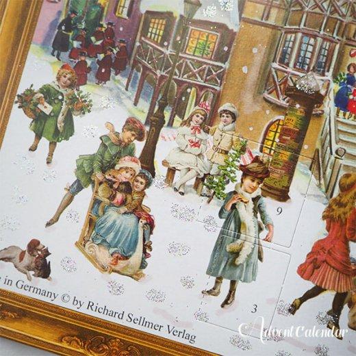 ドイツ クリスマス アドヴェントカレンダー【L】<クリスマス ビクトリア朝>【画像5】