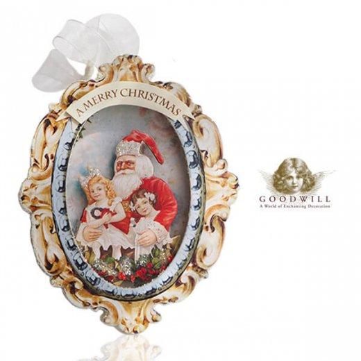 グッドウィル GOODWILL ベルギー直輸入 シャドーボックス オーナメント 【サンタクロース】クリスマス