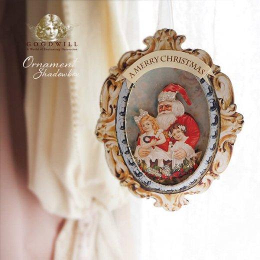 グッドウィル GOODWILL ベルギー直輸入 シャドーボックス オーナメント 【サンタクロース】クリスマス【画像3】