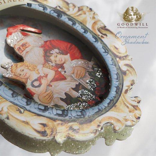 グッドウィル GOODWILL ベルギー直輸入 シャドーボックス オーナメント 【サンタクロース】クリスマス【画像5】