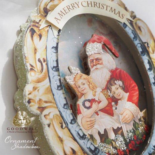 グッドウィル GOODWILL ベルギー直輸入 シャドーボックス オーナメント 【サンタクロース】クリスマス【画像6】