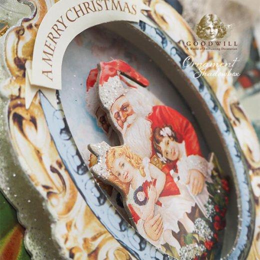 グッドウィル GOODWILL ベルギー直輸入 シャドーボックス オーナメント 【サンタクロース】クリスマス【画像9】