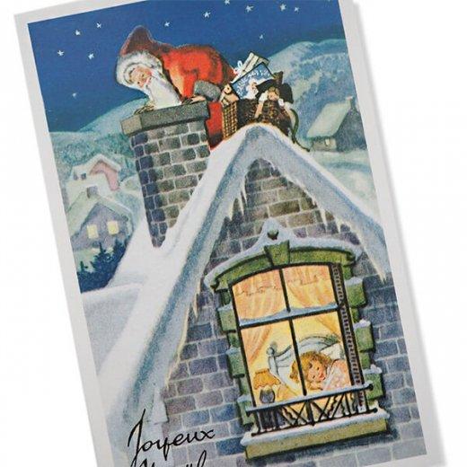 フランス クリスマス ポストカード (Cheminee et pere noel)【画像2】