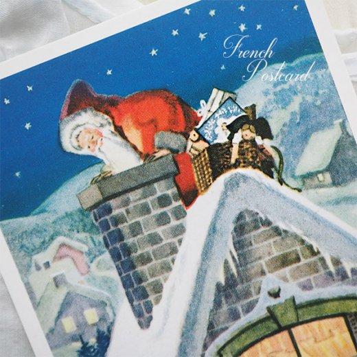 フランス クリスマス ポストカード (Cheminee et pere noel)【画像5】