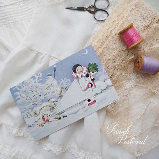 フランス クリスマス ポストカード (L'enfant perdu)【画像3】