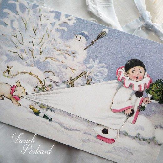フランス クリスマス ポストカード (L'enfant perdu)【画像4】
