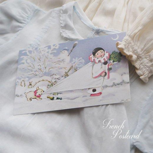 フランス クリスマス ポストカード (L'enfant perdu)【画像5】
