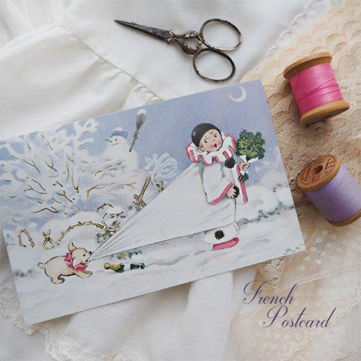 フランス クリスマス ポストカード (L'enfant perdu)【画像7】