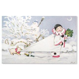 フランス クリスマス ポストカード (L'enfant perdu)
