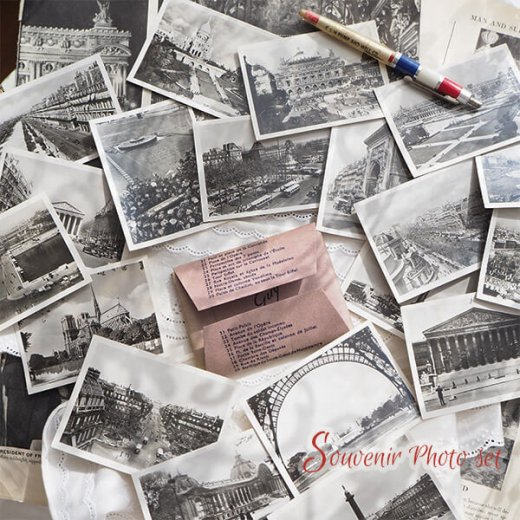 フランス 1930年代 アンティーク スーベニア フォトカードセット(エッフェル塔 凱旋門ほか)series2【画像3】