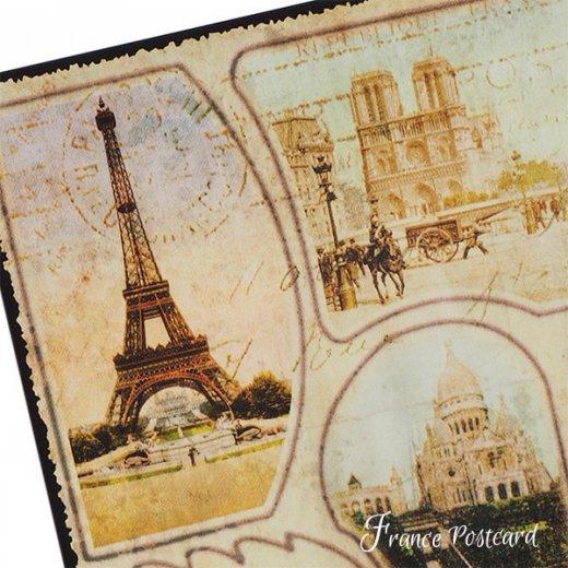 フランス エッフェル塔 ポストカード De PARIS je vous envoie ce SOUVENIR【画像3】