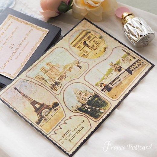 フランス エッフェル塔 ポストカード De PARIS je vous envoie ce SOUVENIR【画像6】