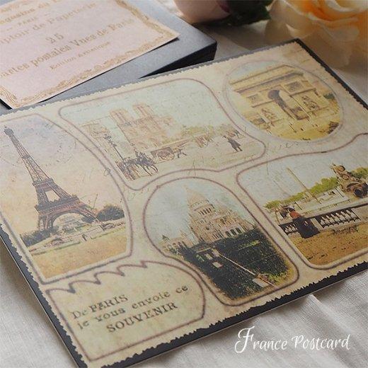 フランス エッフェル塔 ポストカード De PARIS je vous envoie ce SOUVENIR【画像7】