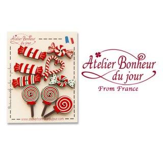 クリスマス(Xmas) 輸入 雑貨 フランス輸入ボタン アトリエ・ボヌール・ドゥ・ジュール【お得な ボタンセット・スイーツ】