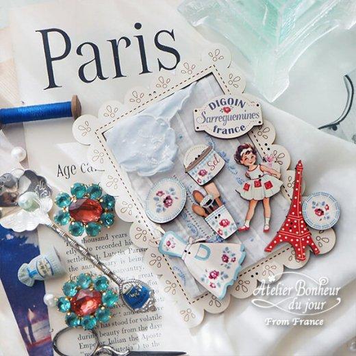 フランス輸入ボタン アトリエ・ボヌール・ドゥ・ジュール【プレゼントを持った女の子】【画像6】