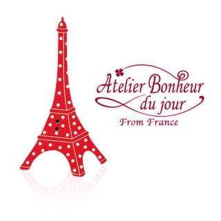 フランス輸入ボタン アトリエ・ボヌール・ドゥ・ジュール【eiffel・pois】