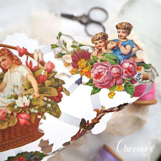 ドイツ クロモス【M】花と幼子と四季【画像4】