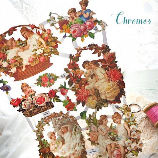ドイツ クロモス【M】花と幼子と四季【画像6】