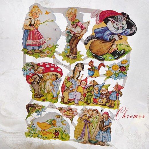 ドイツ クロモス【M】おとぎ話(長靴をはいた猫・シンデレラ・白雪姫)【画像7】