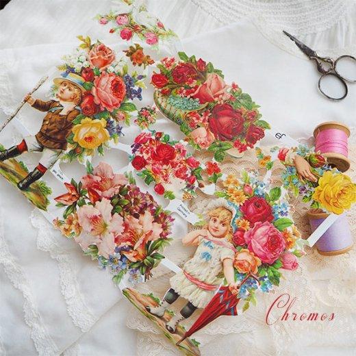 ドイツ クロモス【M】(バラと鳩・幸せの靴)【画像2】