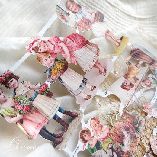 ドイツ クロモス【M】ローズ バラ レース 鳥(中世・幼子と花)【画像6】