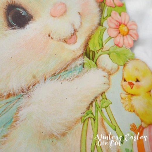 USA ウォールデコ アンティーク イースター 復活祭 【30.5cm ダイカットうさぎ・ひよこ】【画像2】