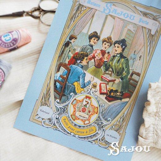 フランス SAJOU ポストカード【SALON DE COUTURE】【画像5】
