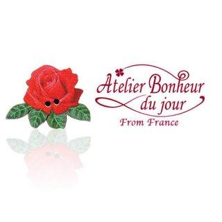 フランス輸入ボタン アトリエ・ボヌール・ドゥ・ジュール フランス輸入ボタン アトリエ・ボヌール・ドゥ・ジュール【ローズ・バラ red】