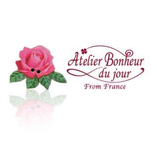 フランス輸入ボタン アトリエ・ボヌール・ドゥ・ジュール フランス輸入ボタン アトリエ・ボヌール・ドゥ・ジュール【ローズ・バラ pink】