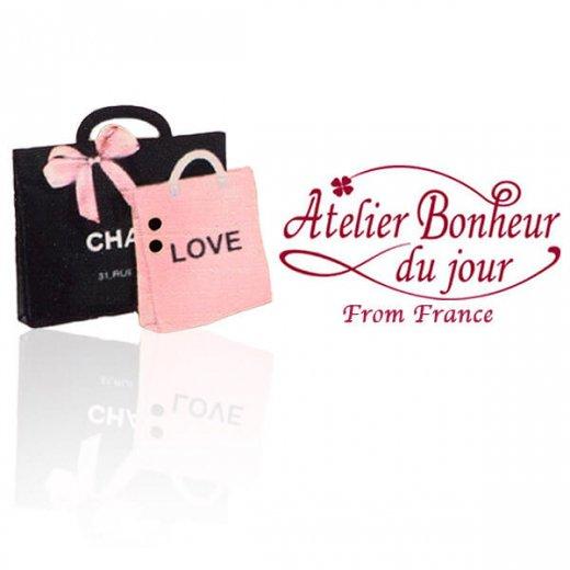 フランス輸入ボタン アトリエ・ボヌール・ドゥ・ジュール【バッグ sac love】