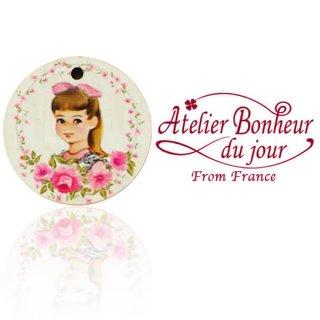 輸入ボタン アトリエ・ボヌール フランス輸入ボタン アトリエ・ボヌール・ドゥ・ジュール【丸ボタン ピンク 女の子】