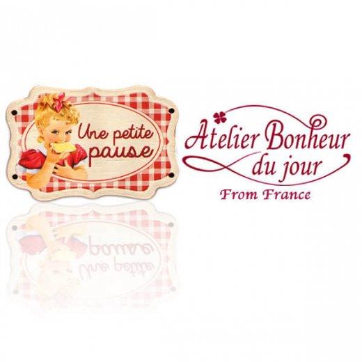 フランス輸入ボタン アトリエ・ボヌール・ドゥ・ジュール【Une petite pause プレート】