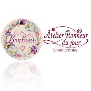 森ガール 雑貨 フランス輸入ボタン アトリエ・ボヌール・ドゥ・ジュール【丸ボタン que du Bonheur 幸せそのもの】