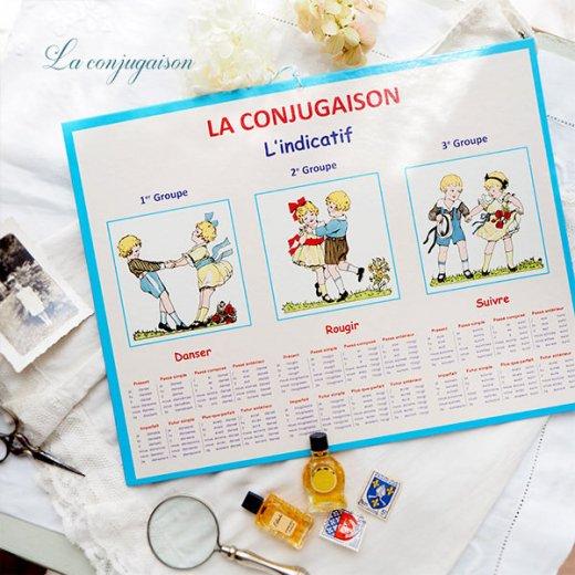 フランス製 LA CONJUGAISON 動詞活用 フランス語勉強表【画像5】