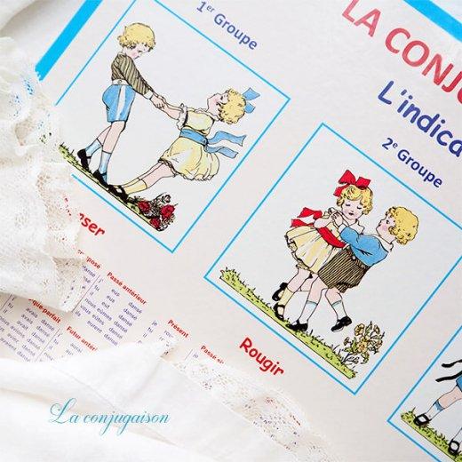フランス製 LA CONJUGAISON 動詞活用 フランス語勉強表【画像6】