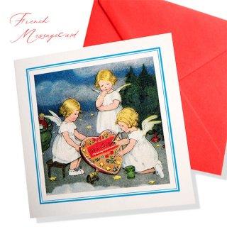 フランス メッセージカード  封筒セット(ange・天使)