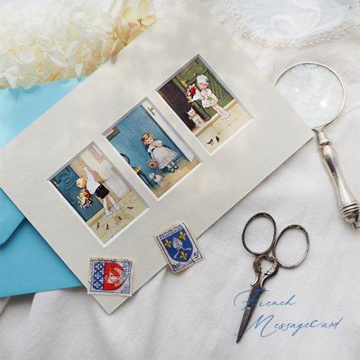 フランス ポストカード マウントボード仕様  封筒セット(花束)【画像10】