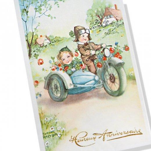 フランス ポストカード  (Heureux anniversaire D)【画像2】