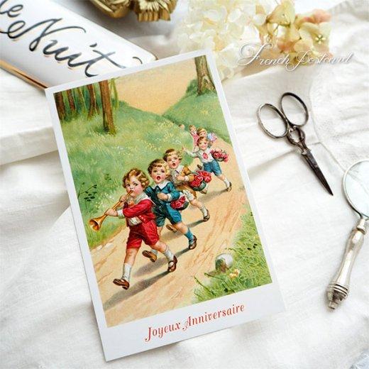 フランス ポストカード  (Joyeux Anniversaire 1)【画像3】