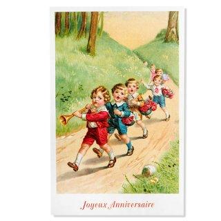 フランス ポストカード  (Joyeux Anniversaire 1)