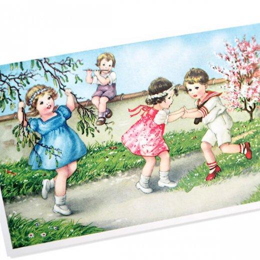 フランス ポストカード  (Jouons dans le jardin)【画像2】
