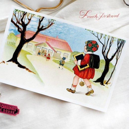 フランス ポストカード  (Vive l'ecole! B)【画像3】