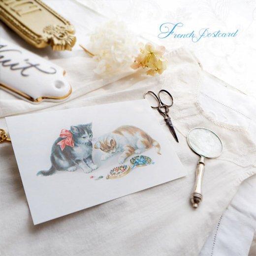 フランス ポストカード 猫 キャット  (Boîte de bonbons)【画像3】