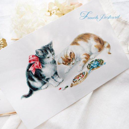 フランス ポストカード 猫 キャット  (Boîte de bonbons)【画像4】