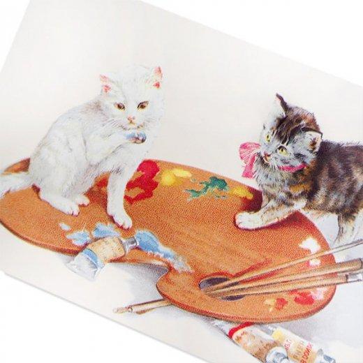フランス ポストカード 猫 キャット  (couleurs)【画像2】