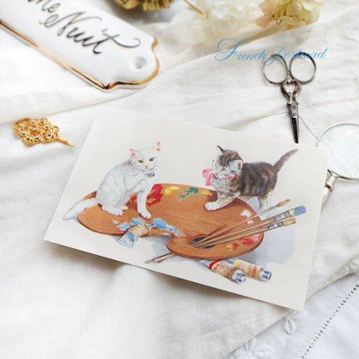 フランス ポストカード 猫 キャット  (couleurs)【画像4】