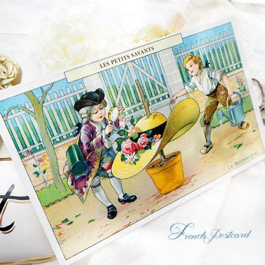 フランス ポストカード  (LES PETITS SAVANTS〜 小さな知識 〜A)【画像4】