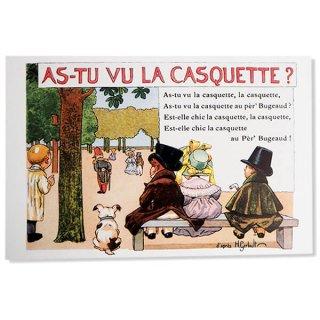 絵本・挿絵系 フランス ポストカード  (As-Tu Vu La Casquette?〜 あなたは帽子を見ましたか? 〜)