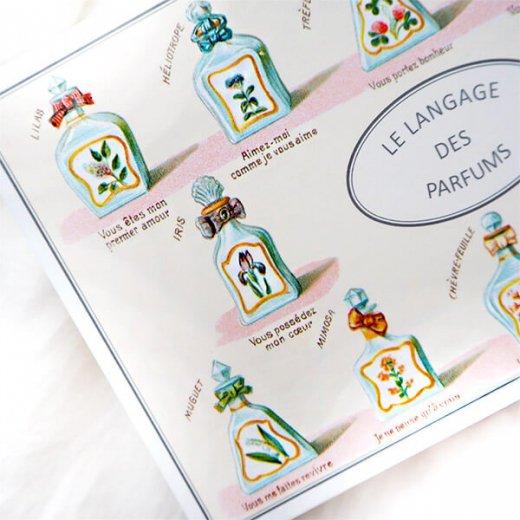 フランス ポストカード (パフューム)香水瓶 バラ スミレ すずらん スミレ ライラック【画像3】